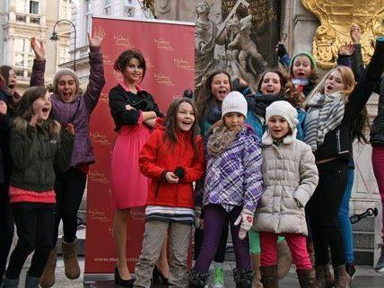 Selena Gomez wurde zu Freuden der Wiener Kids in der Innenstadt gesichtet.
