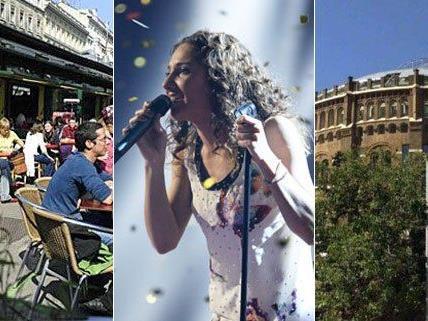 Vor Natalia Kellys Auftritt beim Song Contest werden auch Bilder aus Wien gezeigt.