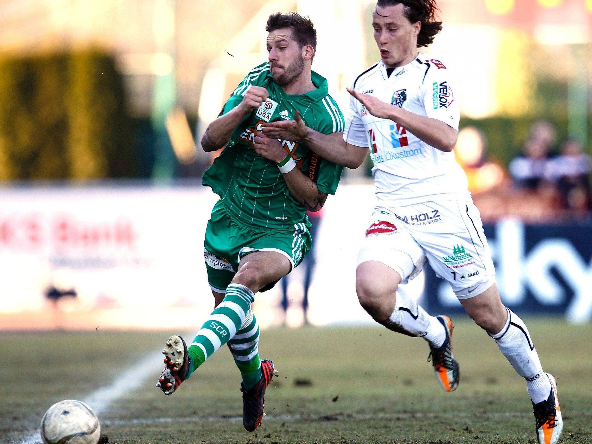 Der SK Rapid Wien verliert auswärts beim WAC mit 2:1.
