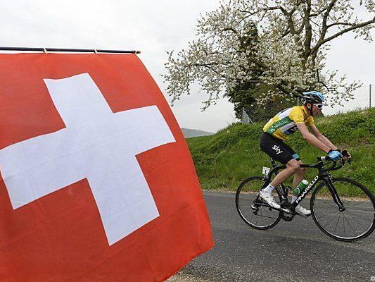 Froome gibt in der Schweiz kräftig Gas