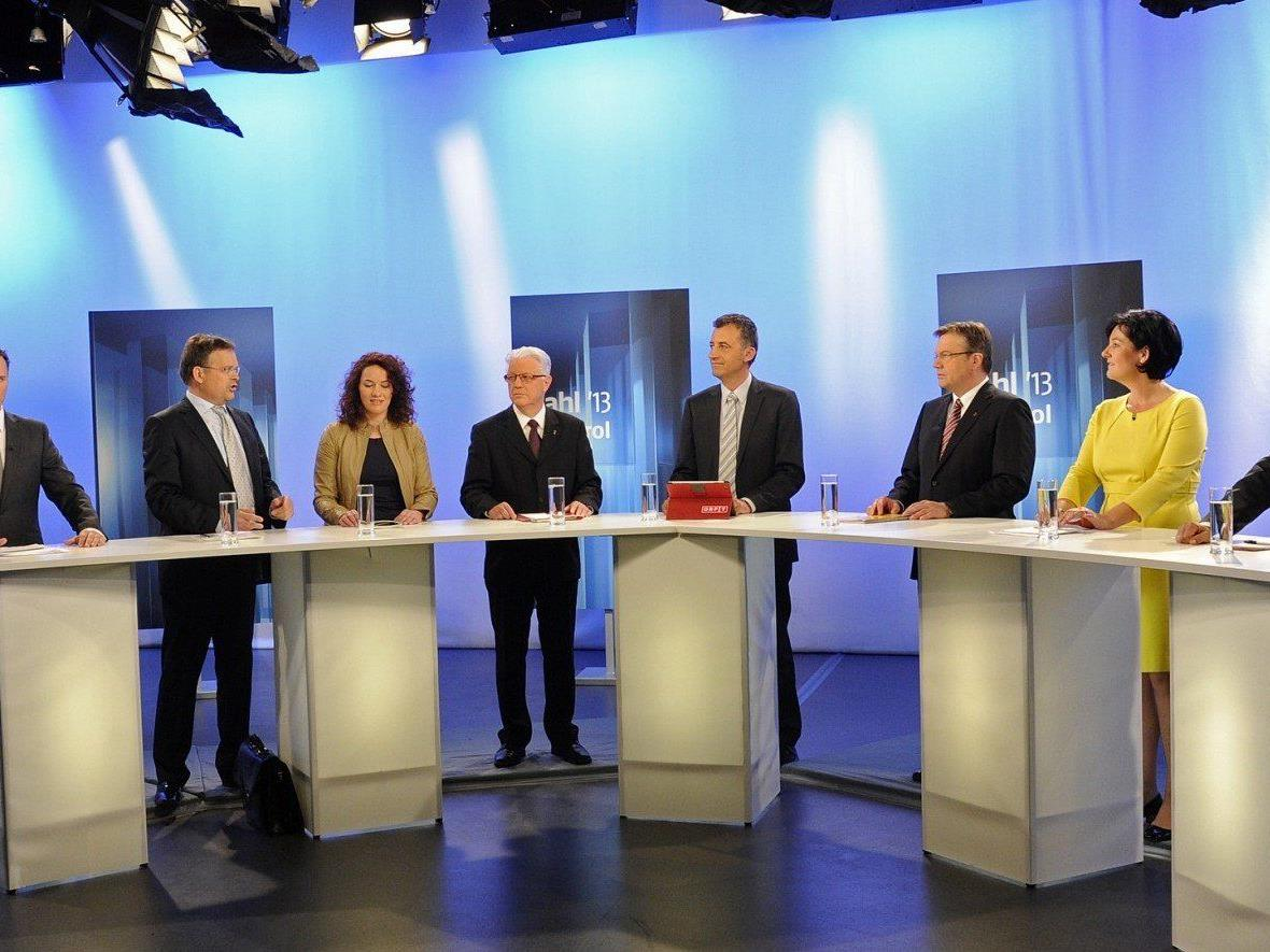 Landtagswahl in Tirol: SPitzenkandidaten durchwegs zufrieden.