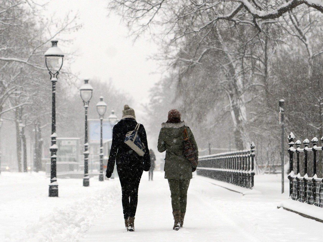 Auch nach Frühlingsbeginn bleibt es in Wien frostig. Schnee und Kälte werden auch in den kommenden Tagen erwartet.