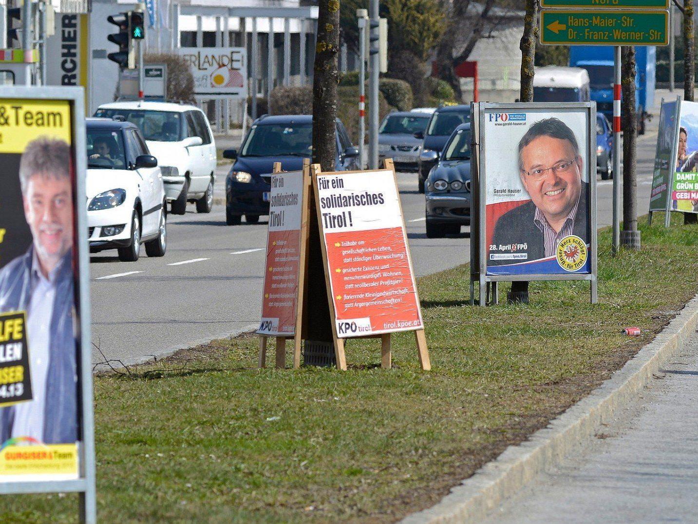 Der Wahlkampf für die Landtagswahl in Tirol hat begonnen.