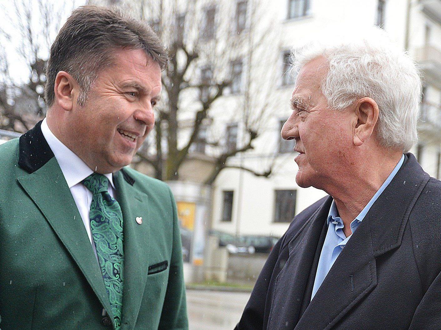 Frank Stronach und Hans-Peter Mayr konnten sich einigen.