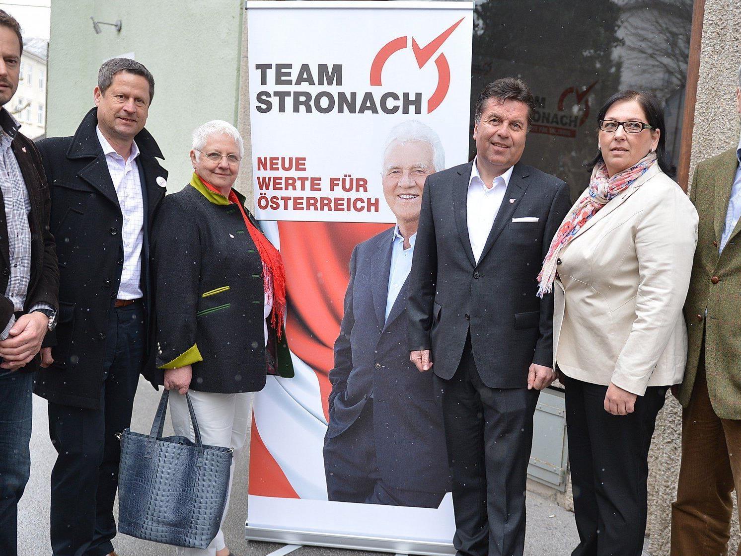 Das Team Stronach hat große Ziele bei der Landtagswahl in Salzburg.