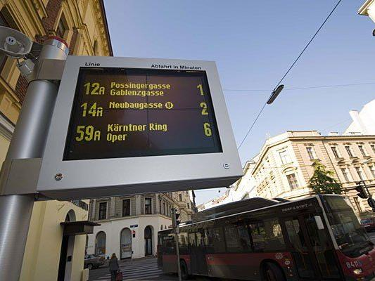 Die Informationsanzeigen der Wiener Linien