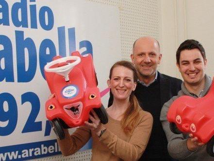 Sophie Lang (Moderatorin Radio Arabella), Mag. Wolfgang Struber (Geschäftsführer Radio Arabella) und Julian Steiner (Moderator Radio Arabella)