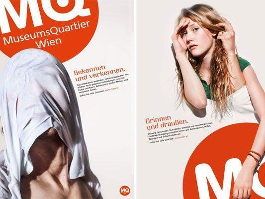 Zwei der neuen Sujets für das Wiener MQ