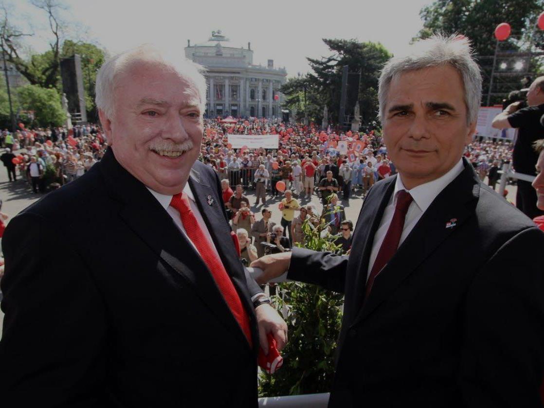 Tag der Arbeit am 1. Mai: Jährlicher Pflichttermin für Bürgermeister Häupl und Bundeskanzler Faymann