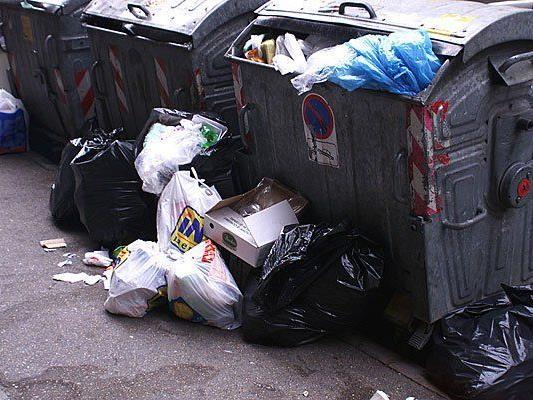 Die Dumpster Diver stahlen in Landstraße Lebensmittel aus dem Müll
