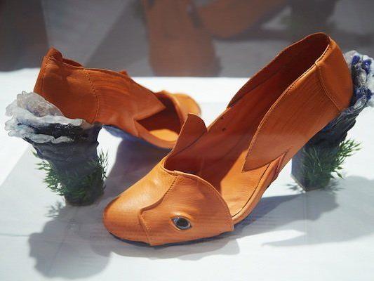 Eines der eingereichten Paare beim Crazy Shoe Award 2013
