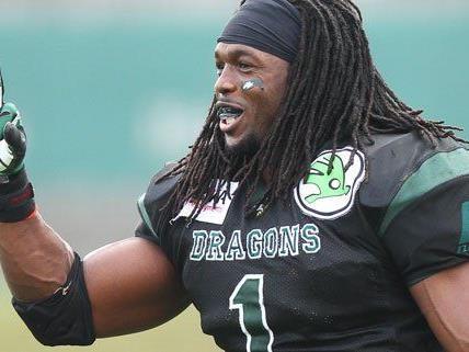 Dragons Runningback Tunde Ogun erzielte gleich drei Touchdowns am Sonntag