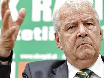Rapid Präsident Edlinger reagierte auf die anhaltenden Fanproteste