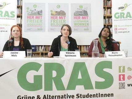 Für ein leistbares Studium und mehr Wahlmöglichkeiten wollen sich GRAS einsetzen.