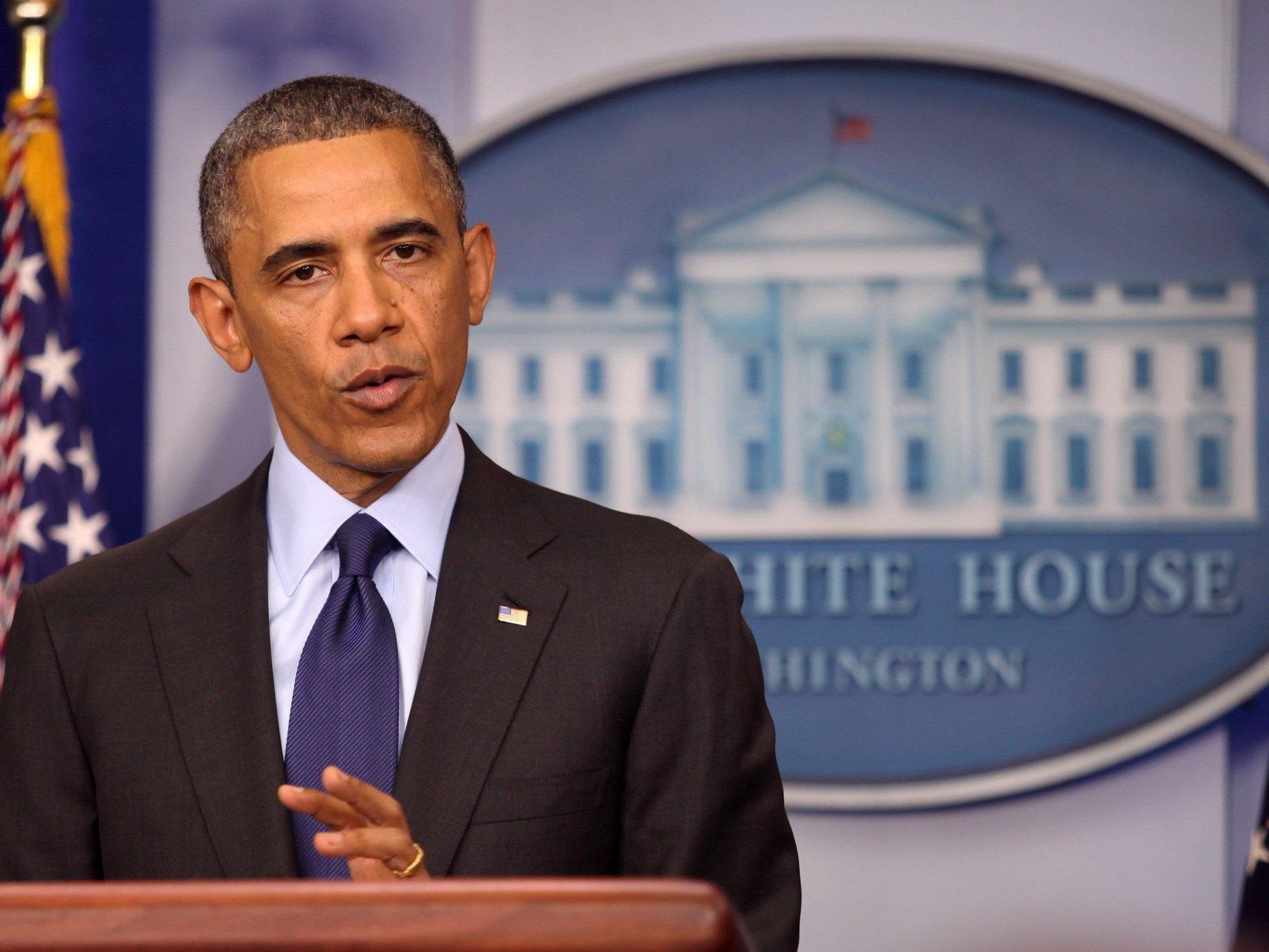 Der US-Präsident kurz nach der Festnahme - kurz zuvor waren bereits erste kritische Stimmen laut geworden.
