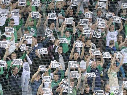Die Rapid-Fans zeigten wenig Unterstützung.