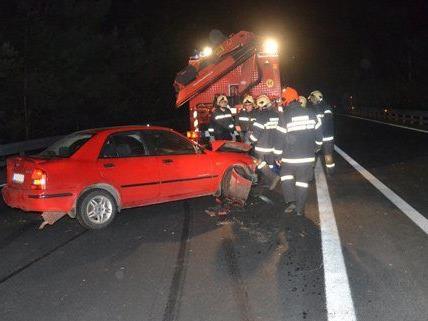 Der Lenker hatte auf der S6 die Kontrolle über sein Auto verloren.