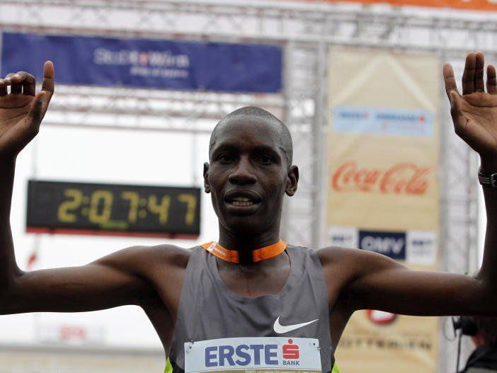 Sugut holte sich erneut den Sieg beim Vienna City Marathon.