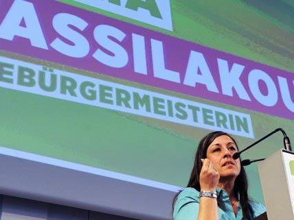 Kämpferisch gab sich Maria Vassilakou am Samstag in Wien.