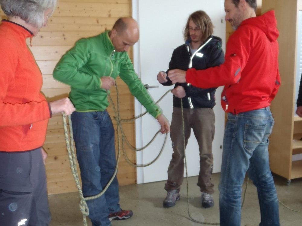 Kletterworkshop für die Teamleitung in Imst.