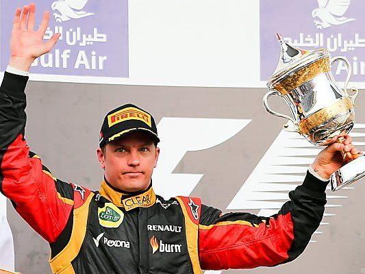 Räikkönen liegt knapp hinter Vettel