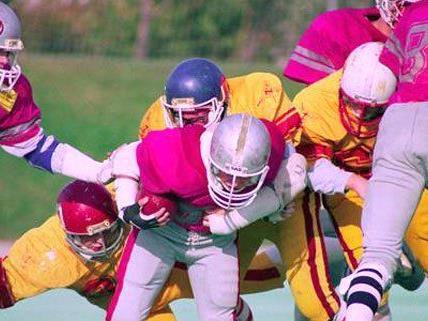 Die Vikings spielen gegen die Rangers im Stile der 80er Jahre.