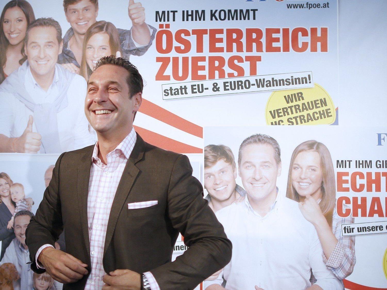 Strache stellte die Plakatkampagne der FPÖ für die Nationalratswahl vor.
