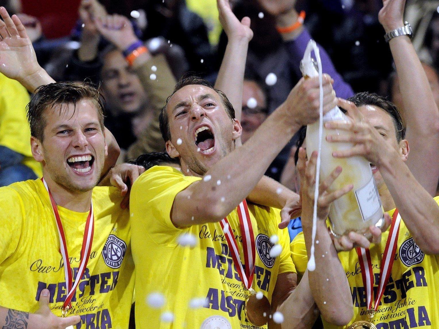 Austria Wien: Am Mittwoch wurde in Favoriten der Meistertitel gewonnen.