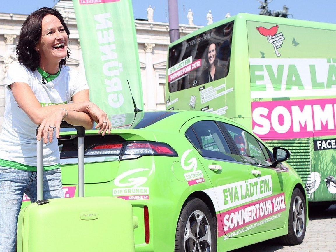 Schon im Vorjahr ging Grünen-Chefin Eva Glawischnig auf Sommertour.