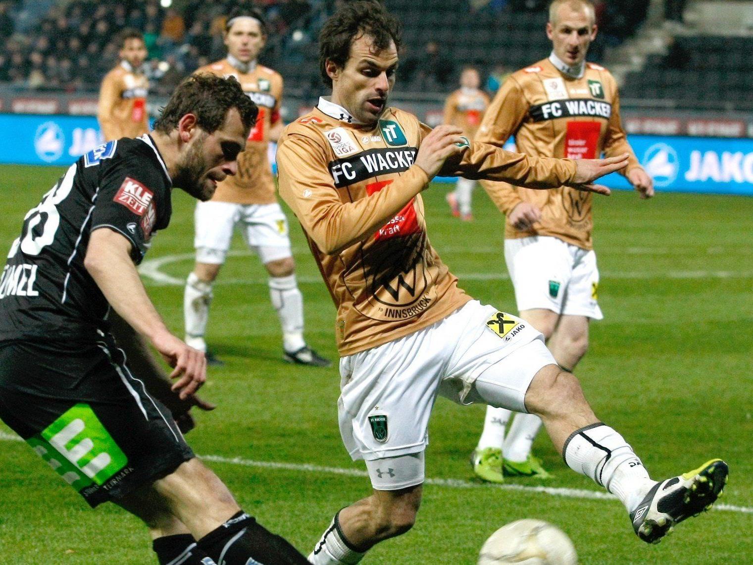 Wir berichten am Mittwoch ab 20.30 Uhr vom Spiel FC Wacker Innsbruck gegen SK Sturm Graz im Fußball-Live-Ticker.