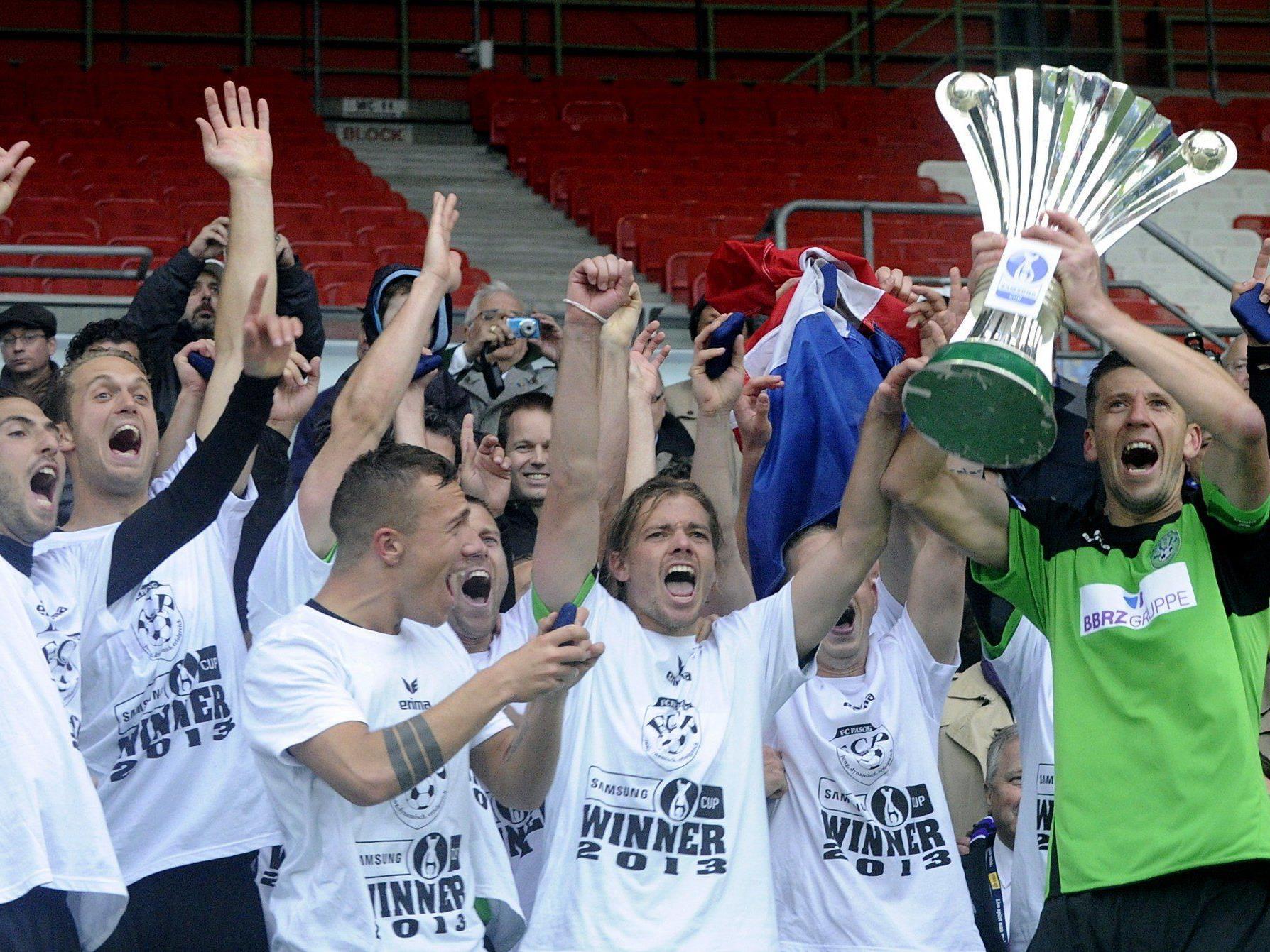 Der harte Kampf gegen die Wiener Austria im ÖFB-Cup-Finale hat sich für Sensationssieger Pasching ausgezahlt.