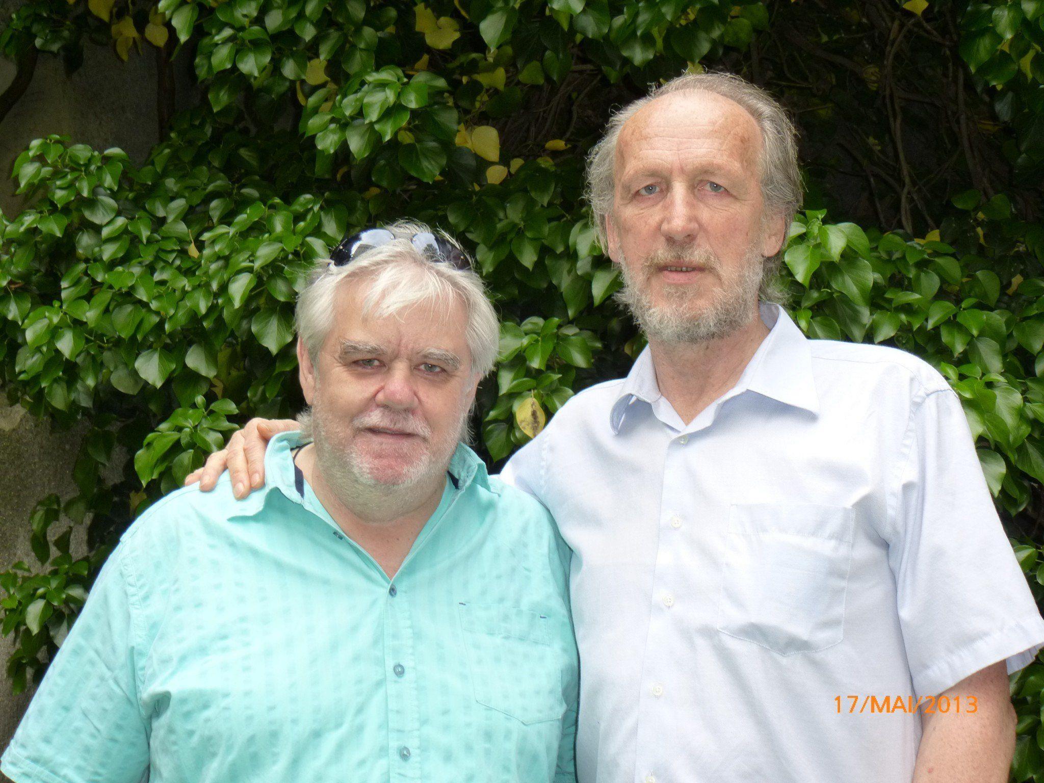 Teilnehmer Rudolf Schmalzl & Projektleiter Hubert Vogl