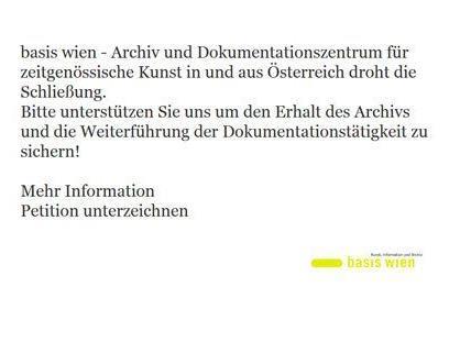 """Kunstarchiv """"Basis Wien"""" warnt vor drohender Schließung"""