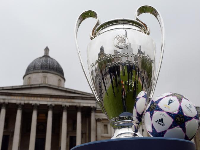 Der heiß begehrte Champions-League-Pokal