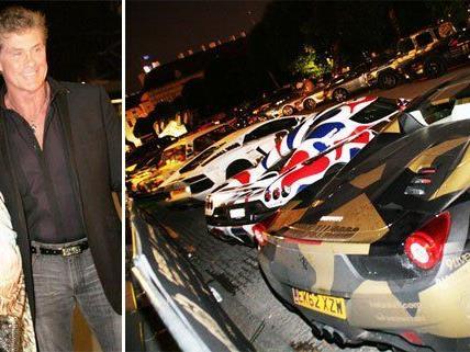 Bei Gumball 3000 in Wien ist auch David Hasselhoff mit von der Partie.