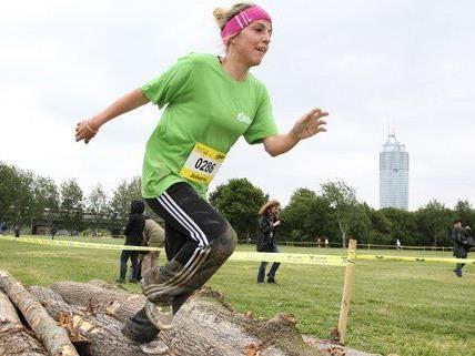 Die Teilnehmer gaben bei dem Lauf am Samstag alles.