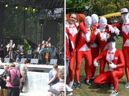 Musik und gute Laune beim Maifest im Prater.