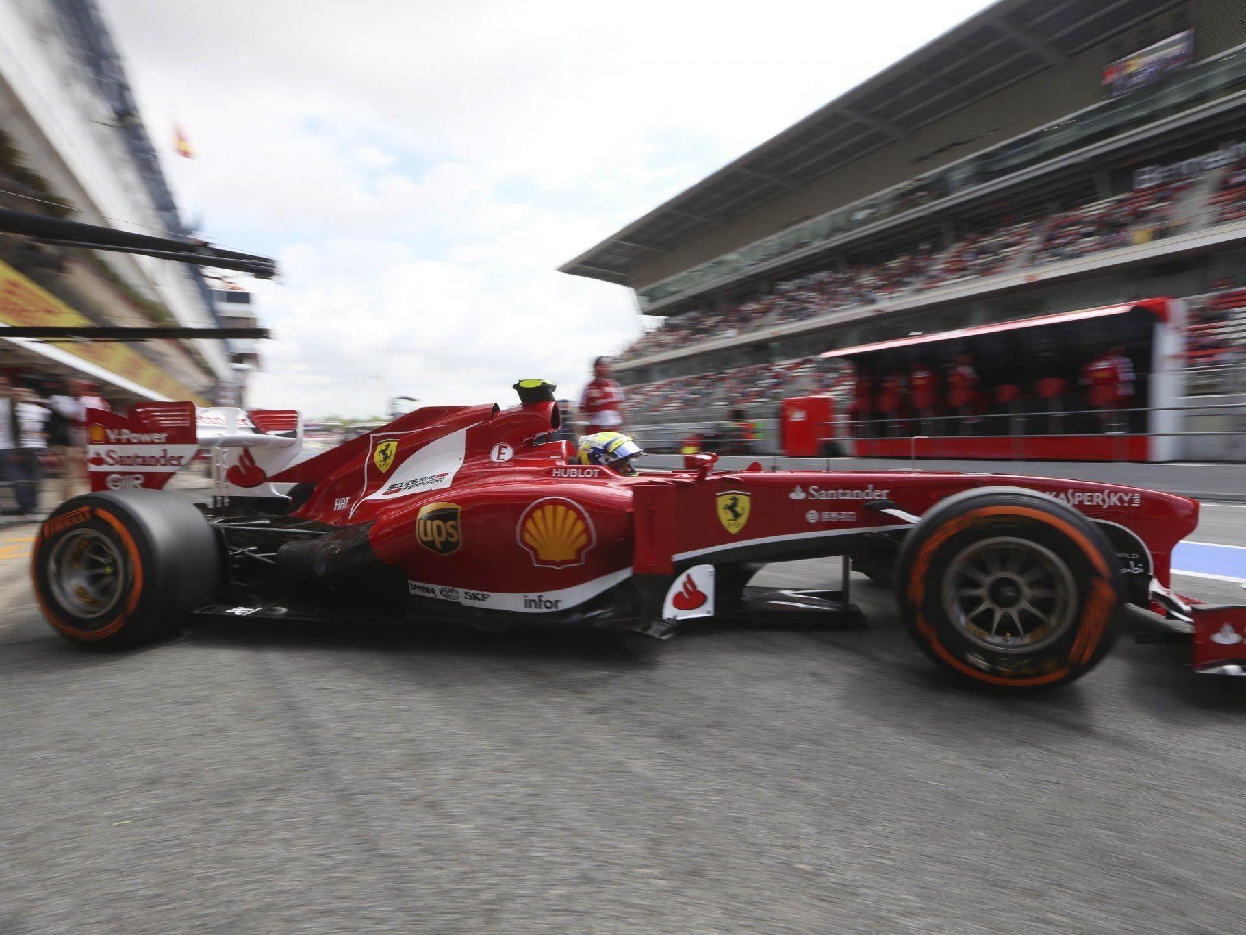 Ferrari-Pilot Felipe Massa beim Abschlusstraining in Barcelona der Schnellste.