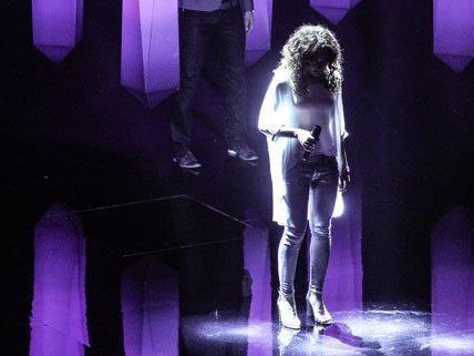 Natália Kelly (hier bei der Generalprobe) hat beim Halbfinale des Eurovision Song Contest die Startnummer 1.