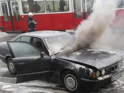 Der Lenker des Fahrzeugs blieb glücklicherweise unverletzt.