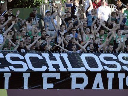 Auch am Samstag protestierten die Rapid-Fans.