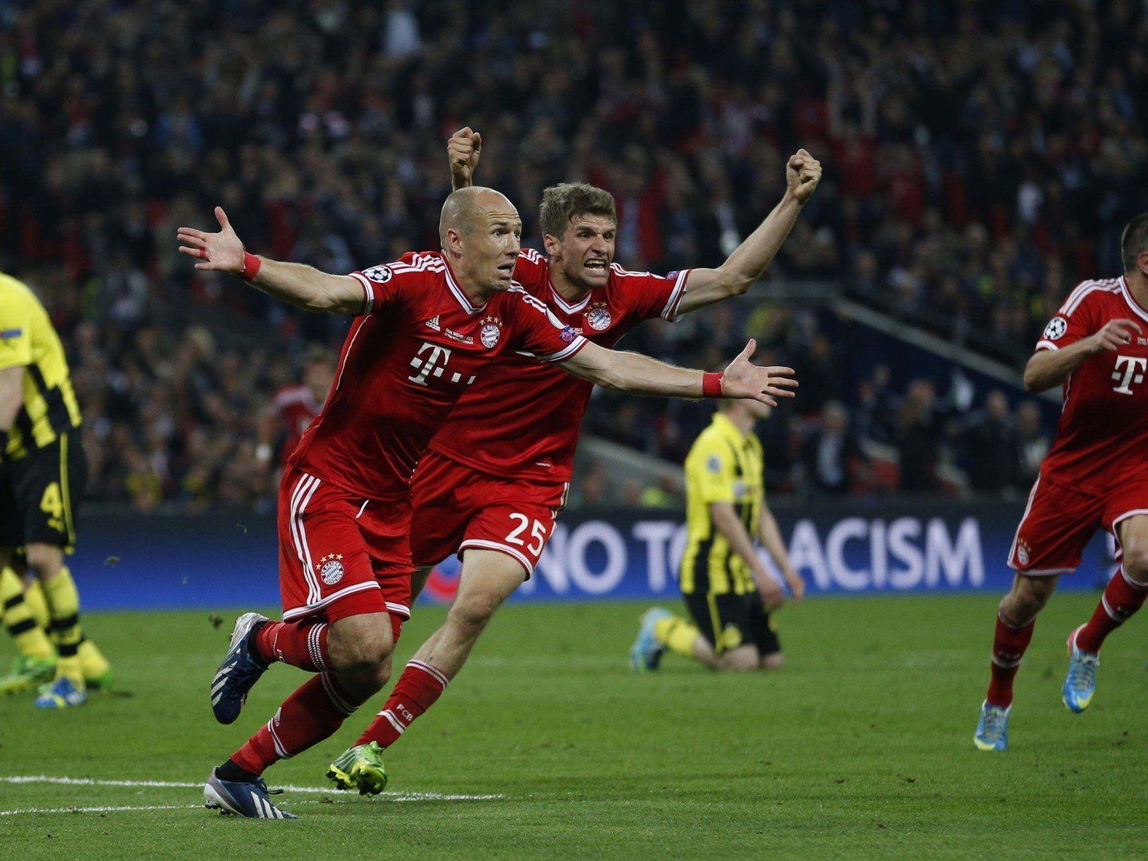 Spätes Robben-Tor entschied hochklassiges Endspiel gegen Dortmund.