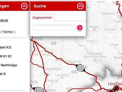 Ab sofort kann man online in Echtzeit die Daten zu Zügen in Österreich abrufen.