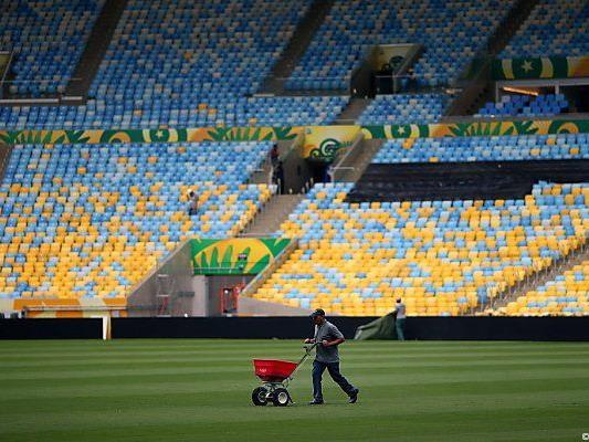 Im Maracana-Stadion wird letzte Hand angelegt