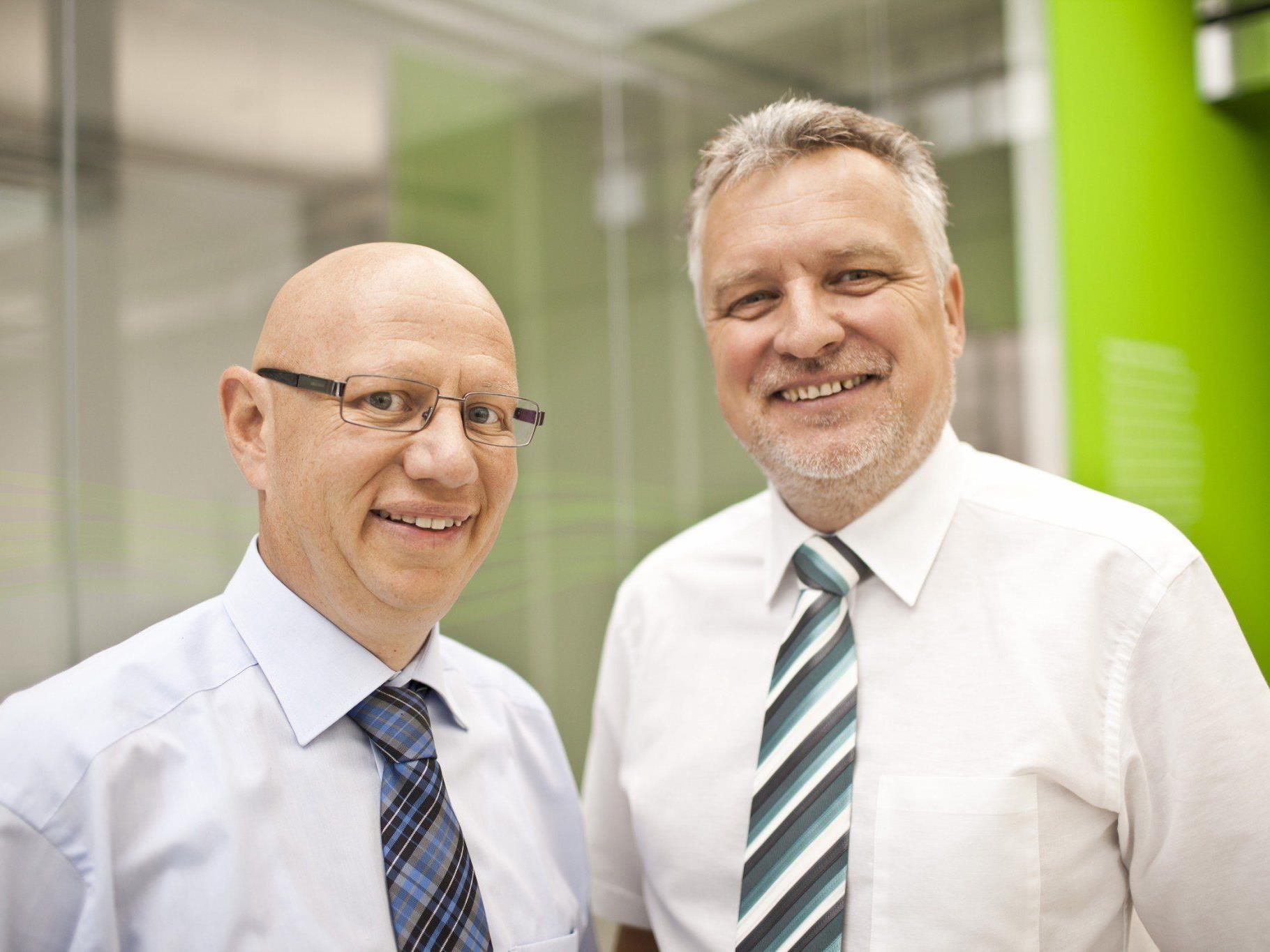 Top-Qualität von Beginn an: 1zu1 Prototypen gehört auch beim 3D-Druck aus Polyamid zu den Qualitätsführern, sind die beiden Geschäftsführer Hannes Hämmerle (links) und Wolfgang Humml überzeugt.