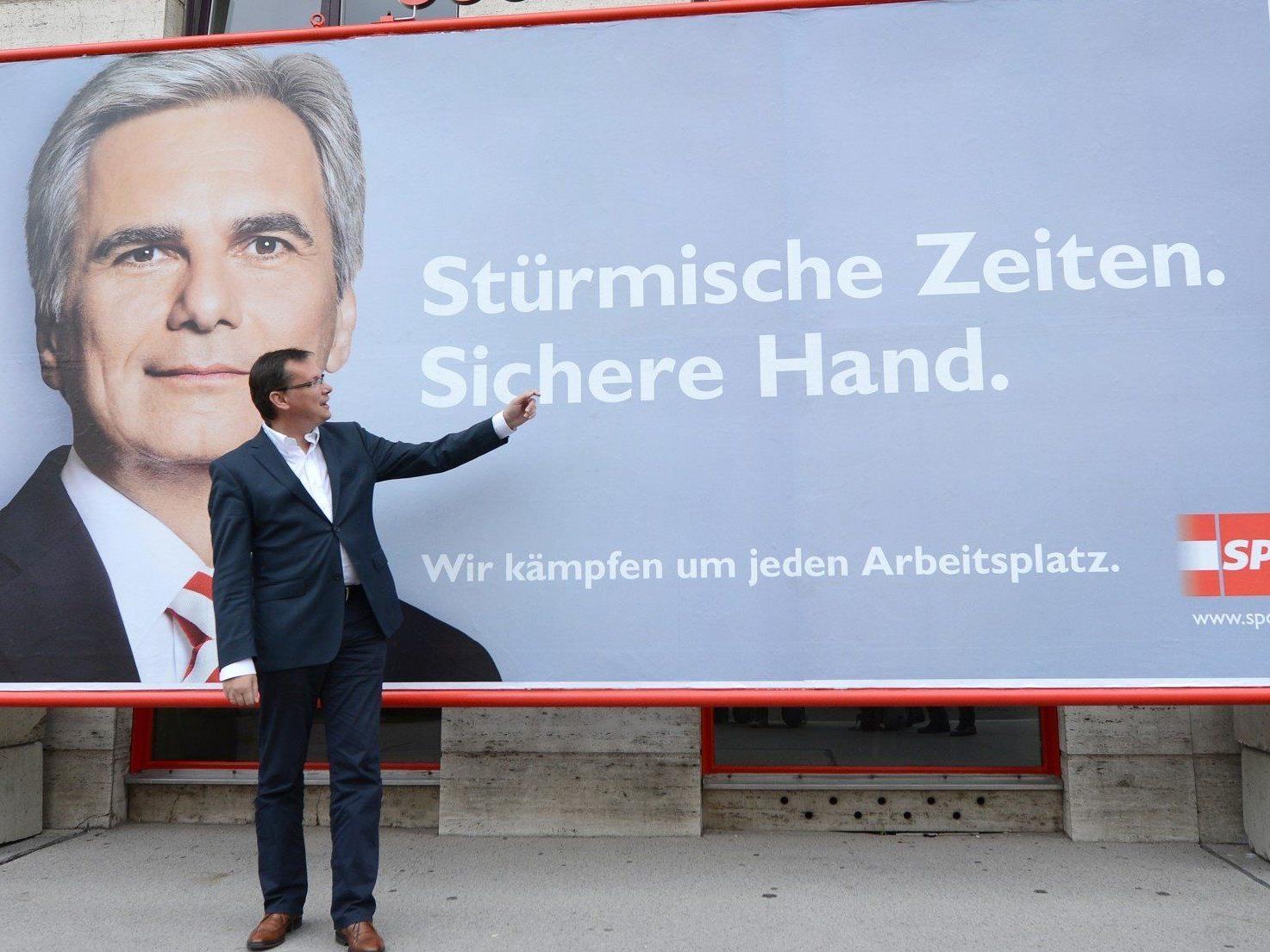 Die SPÖ präsentierte ihre Plakatkampagne für die Nationalratswahl 2013.