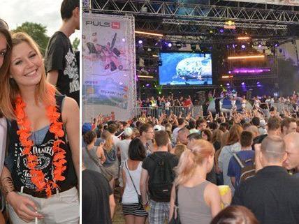 Das sommerliche Wetter lockte auch am Sonntag viele Besucher auf die Donauinsel.