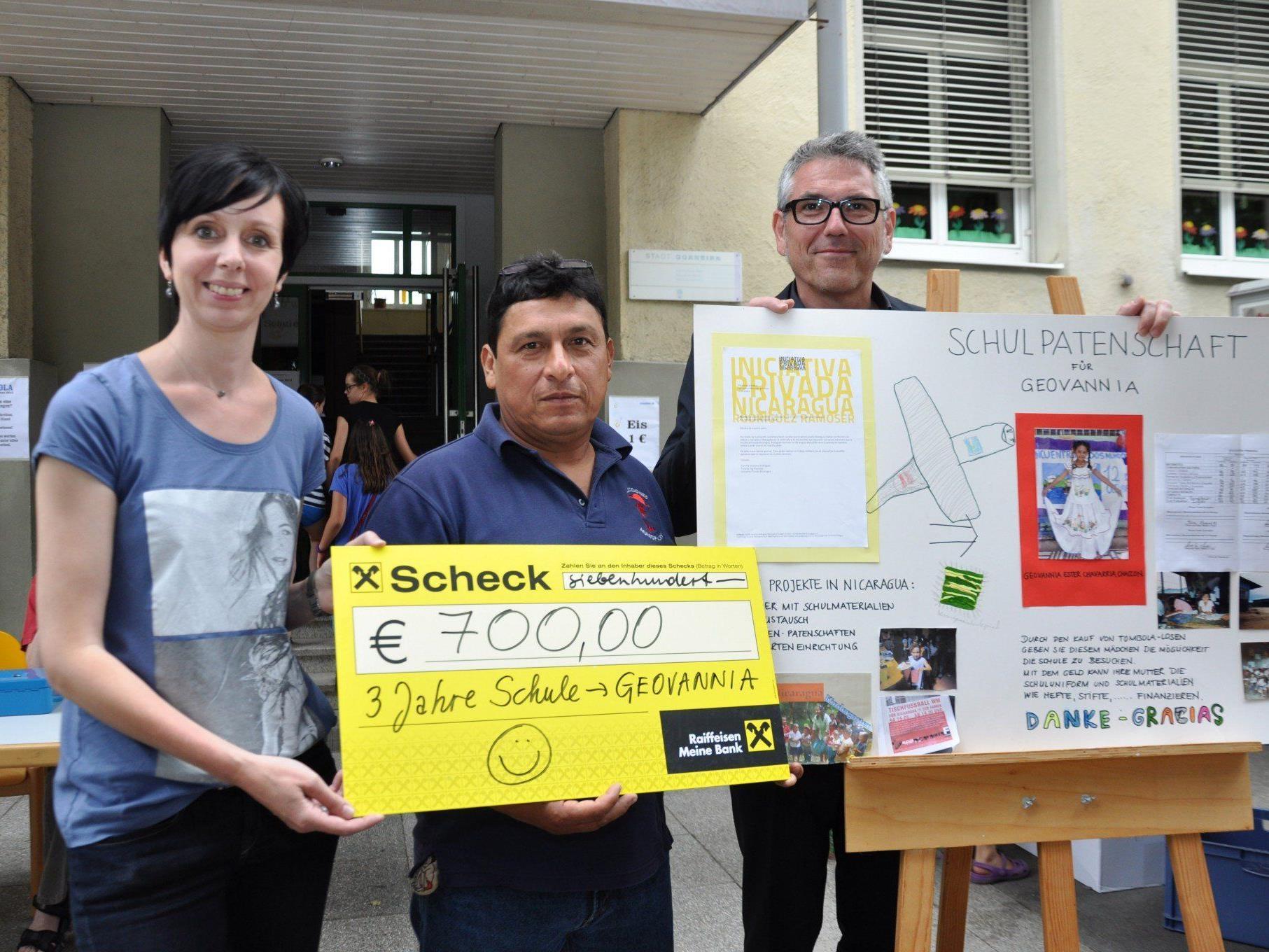 Der Elternverein der Volksschule Markt spendete 700 Euro für eine Schulpatenschaft in Nicaragua.