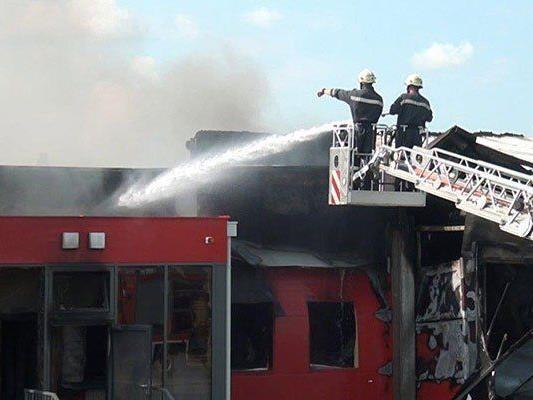 Beim Einsatz der Feuerwehr in Gars am Kamp