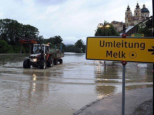 Hochwasser: So sieht es derzeit in Melk aus